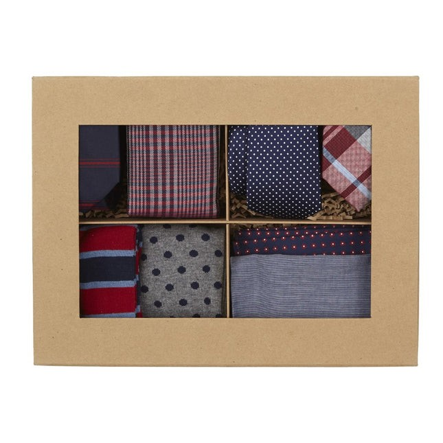 Red + Navy Style Box Gift Set
