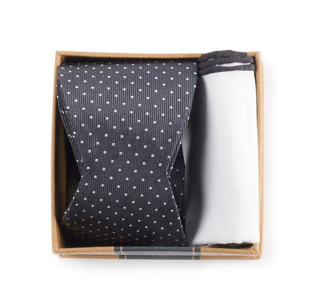 Charcoal Grey Bow Tie Box Gift Set
