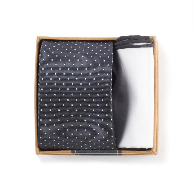 Charcoal Grey Tie Box Gift Set