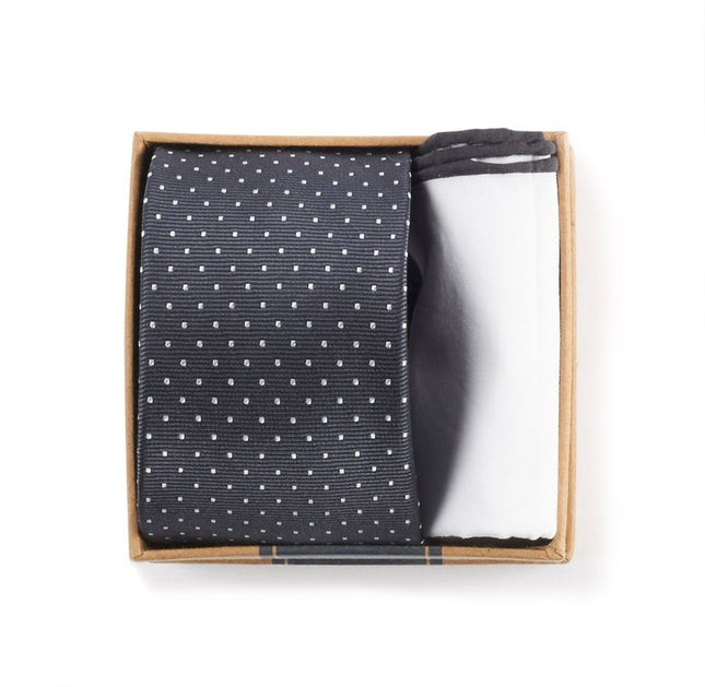 Charcoal Grey Tie Box Gift Set