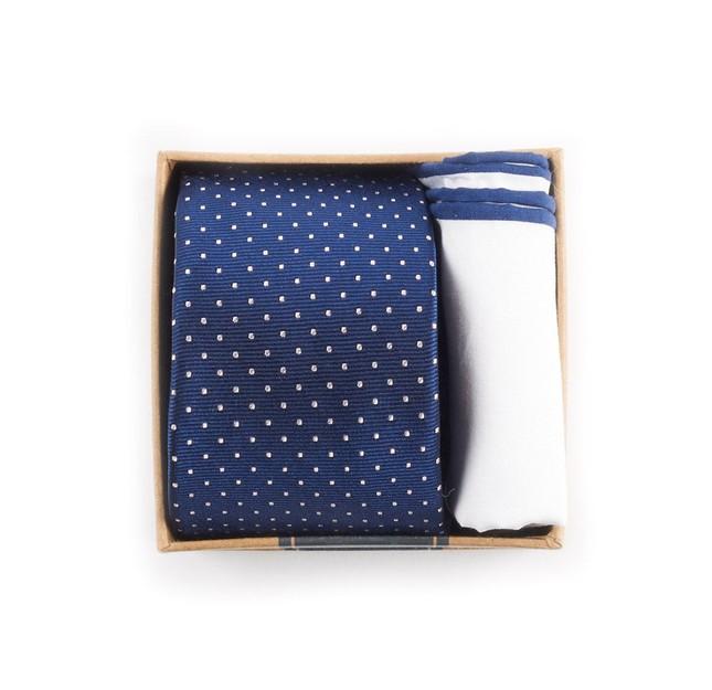 Navy Tie Box Gift Set