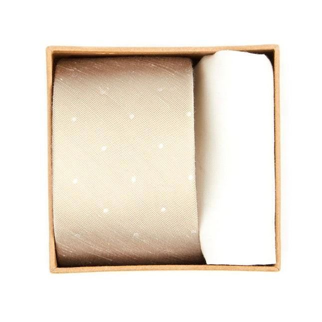 Bulletin Dot Tie Box Light Champagne Gift Set