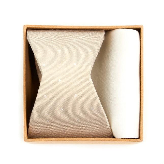 Bulletin Dot Bow Tie Box Light Champagne Gift Set