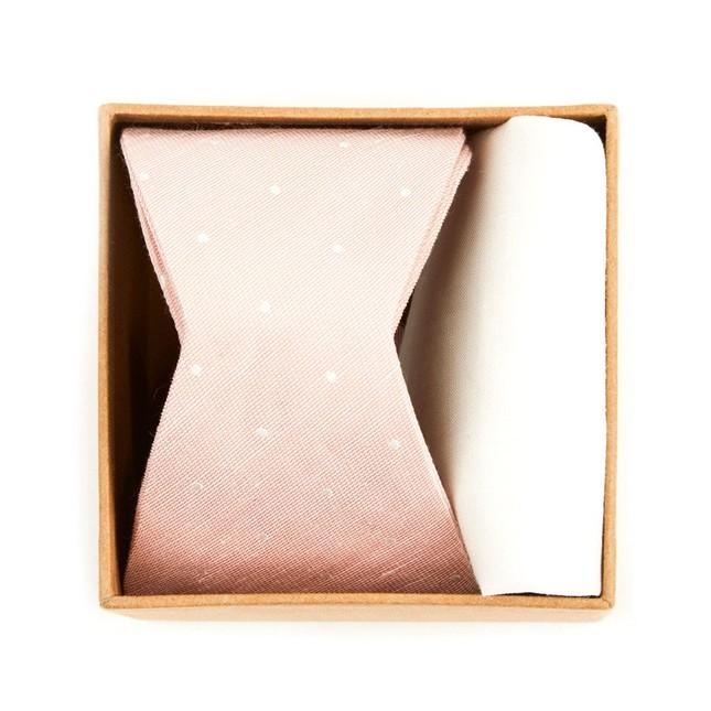 Bulletin Dot Bow Tie Box Blush Pink Gift Set