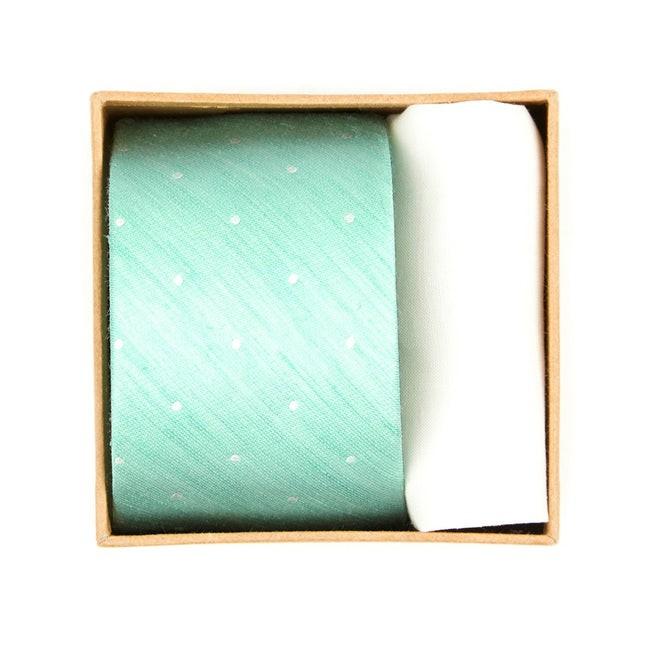 Bulletin Dot Tie Box Spearmint Gift Set