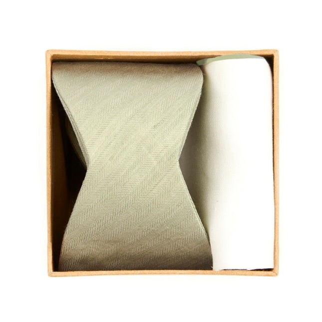 Linen Row Bow Tie Box Sage Green Gift Set