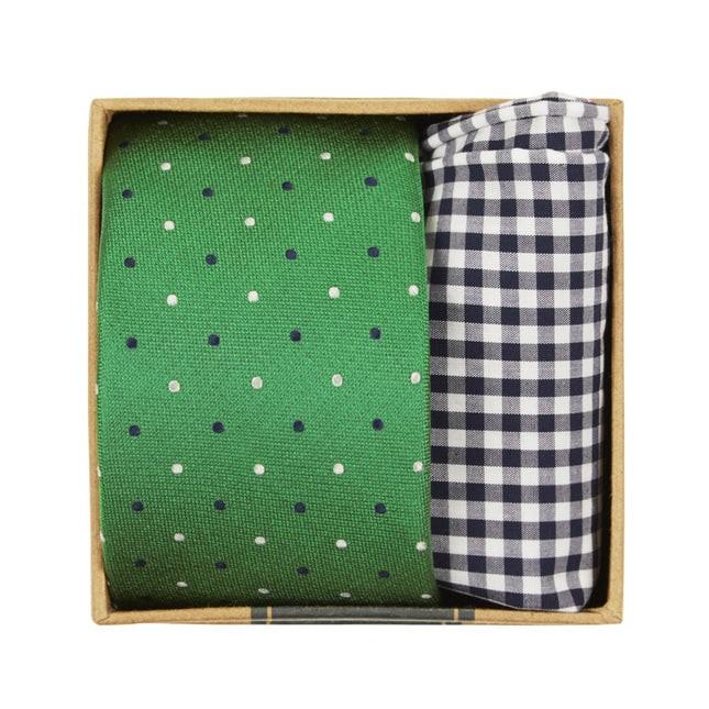Jpl Dots Tie Box Clover Green Gift Set