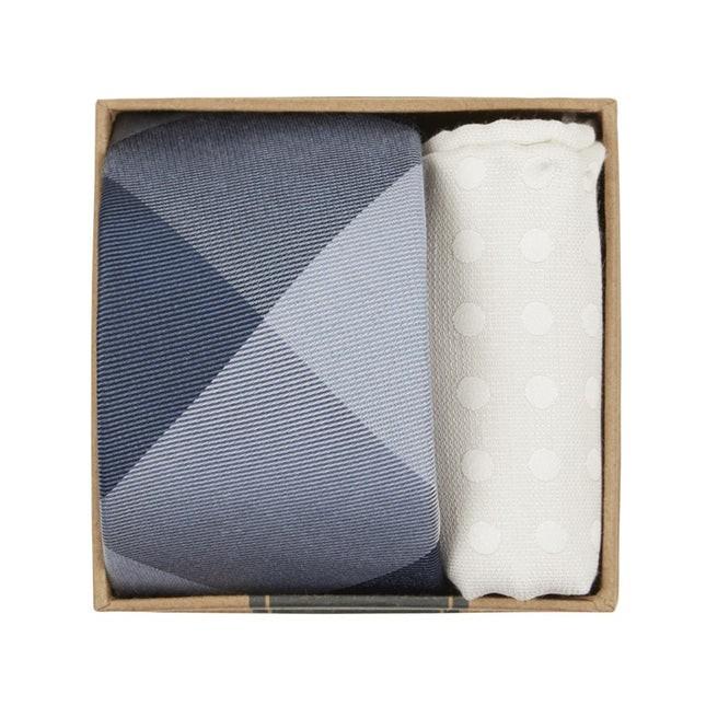 Bison Plaid Tie Box Blues Gift Set