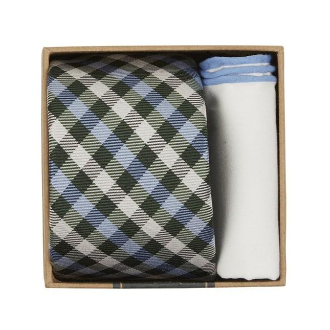 Polo Plaid Tie Box Green Gift Set