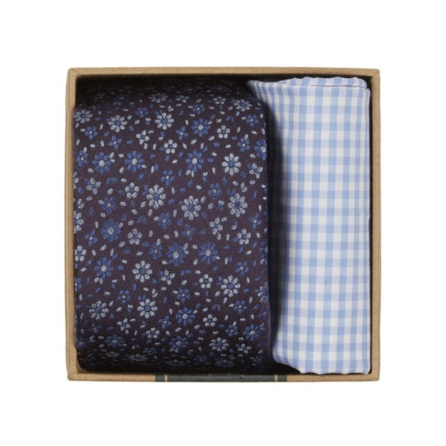 Milligan Flowers Tie Box Light Purple Gift Set