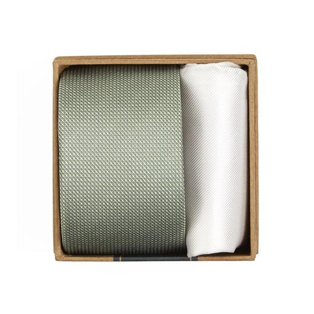 Union Solid Tie Box Sage Green Gift Set