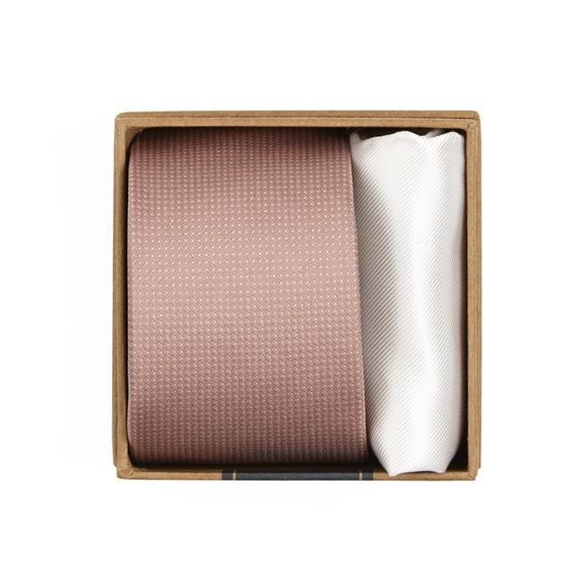 Union Solid Tie Box Blush Gift Set