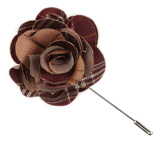 Marshall Plaid Berry Lapel Flower