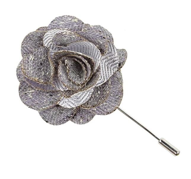 Buff Solid Lavender Lapel Flower