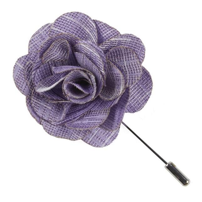 Linen Archetype Lavender Lapel Flower