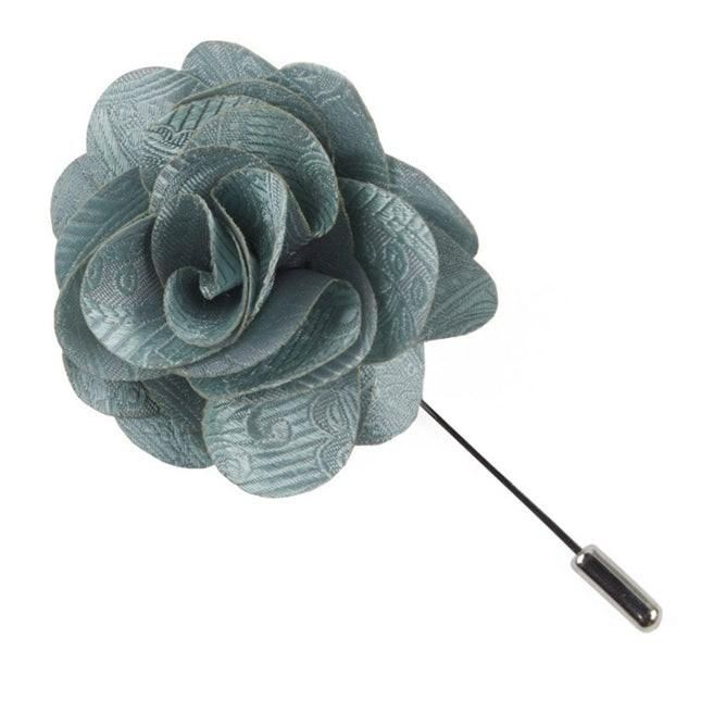 Twill Paisley Spearmint Lapel Flower