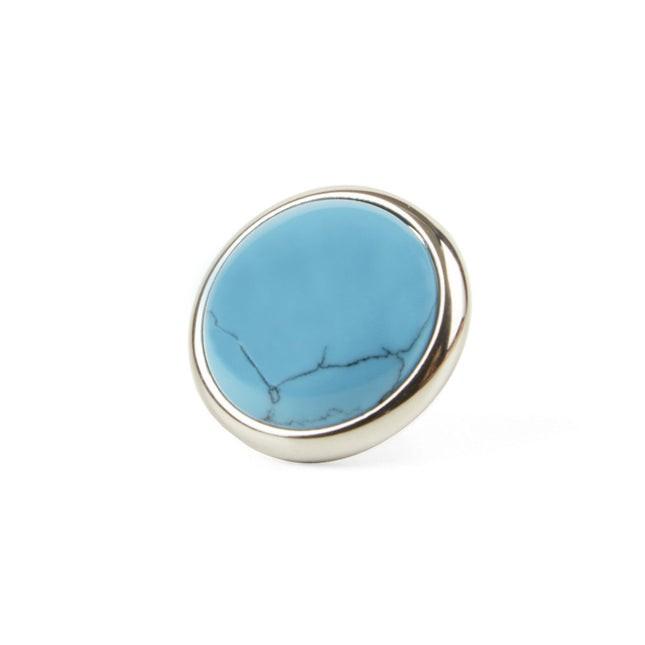 Mountain Stone Silver Lapel Pin