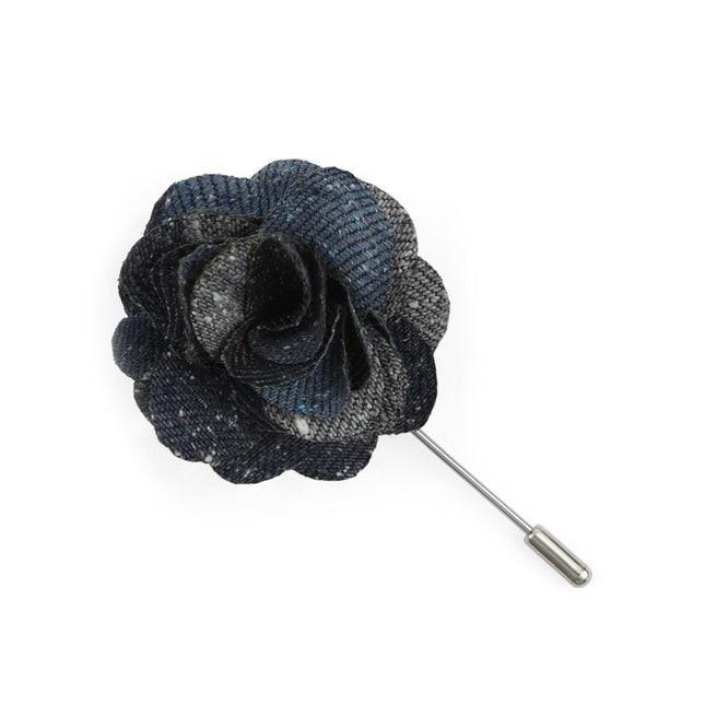 Varios Stripe Serene Blue Lapel Flower