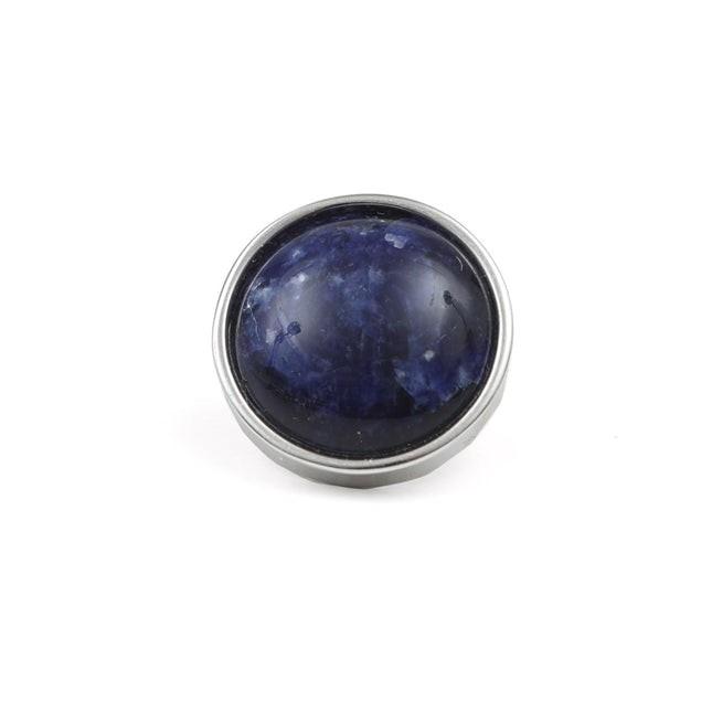 Mountain Stone Navy Lapel Pin