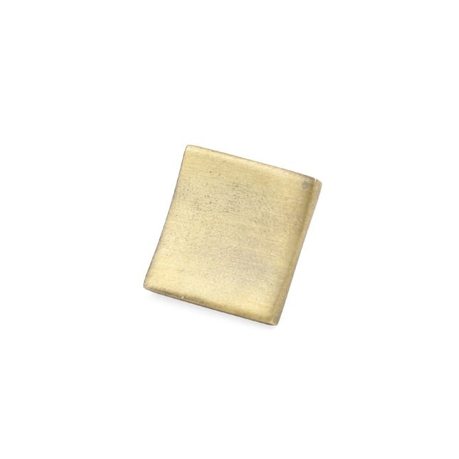Brushed Square Gold Lapel Pin