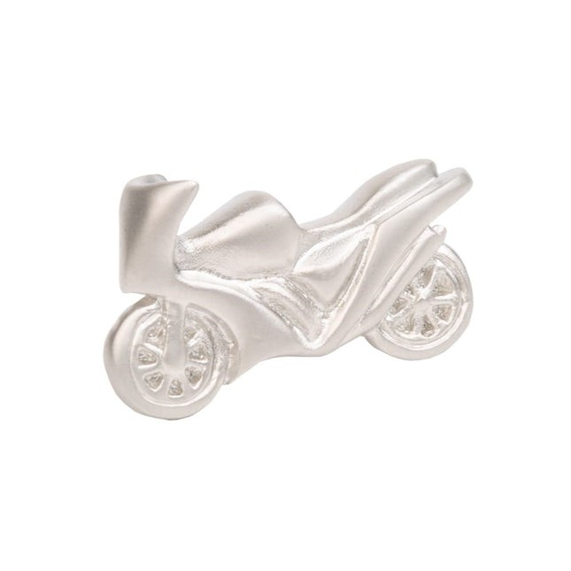 Motorcycle Silver Lapel Pin