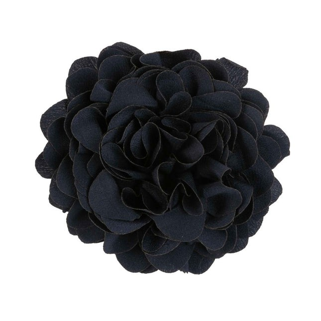 Solid Silk Xl Navy Lapel Flower