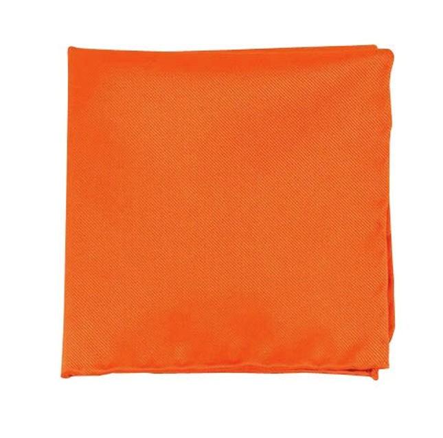 Solid Twill Tangerine Pocket Square