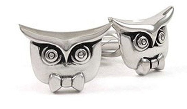 Signature Owl Silver Cufflinks