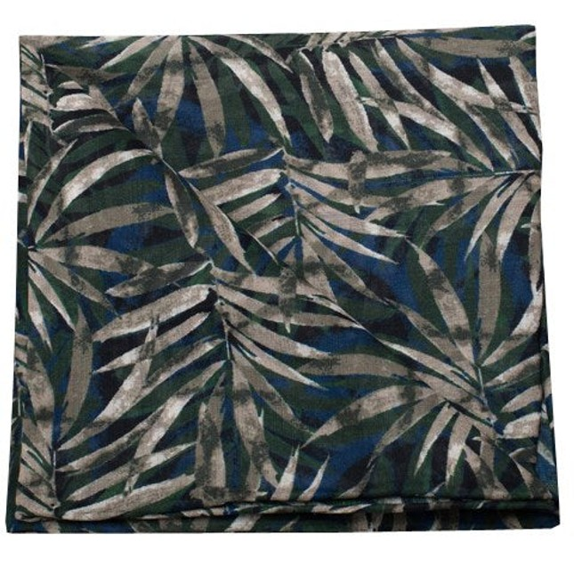 Cornwall Leaves By Dwyane Wade Blue Pocket Square