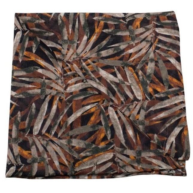 Cornwall Leaves By Dwyane Wade Burnt Orange Pocket Square