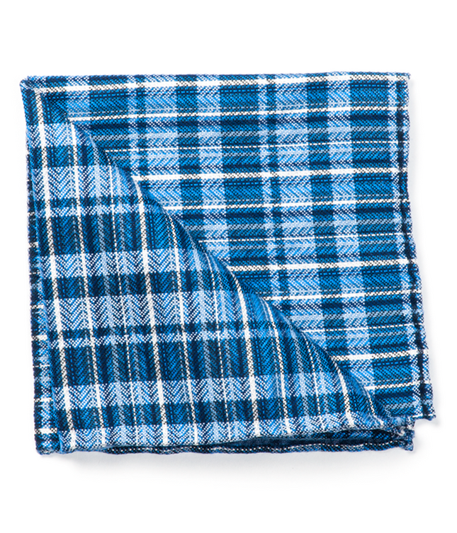 Longboard Plaid By Dwyane Wade Blues Pocket Square