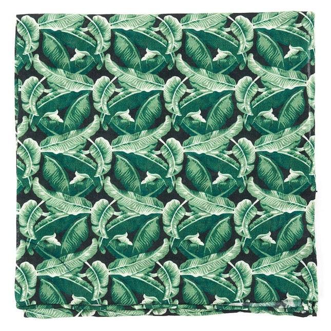 Tiki Shack By Dwyane Wade Hunter Green Pocket Square