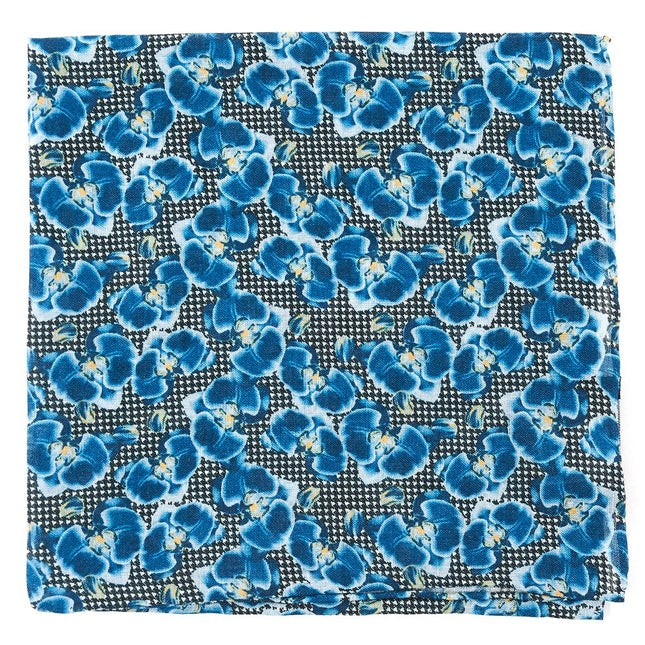 Lei Houndstooth By Dwyane Wade Navy Pocket Square