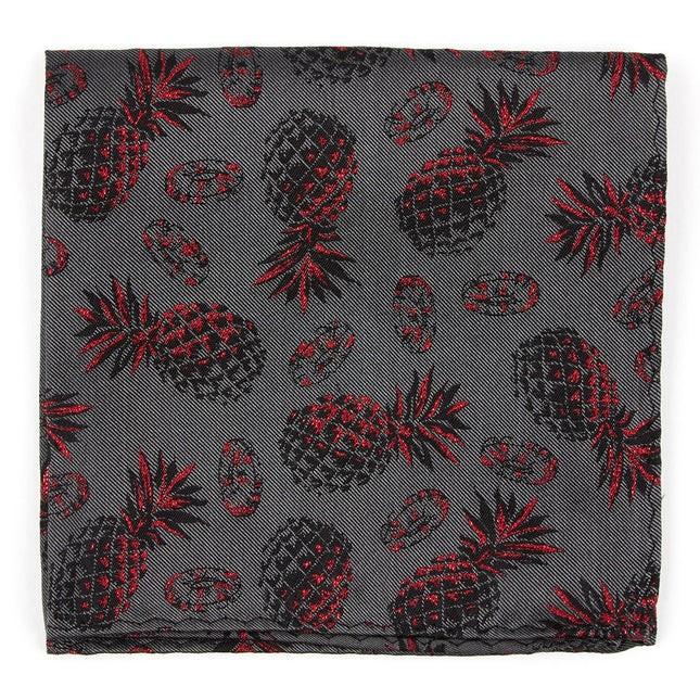 Pineapple Jam By Dwyane Wade Grey Pocket Square
