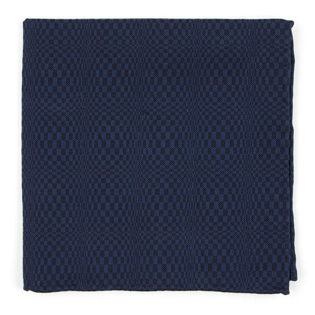 Check List By Dwyane Wade Deep Serene Blue Pocket Square