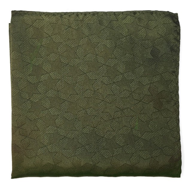 North Stars By Dwyane Wade Army Green Pocket Square