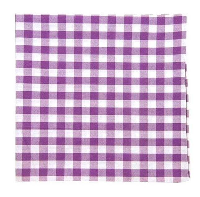 Cotton Table Plaid Plum Pocket Square