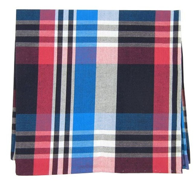 High Point Plaid Raspberry Pocket Square