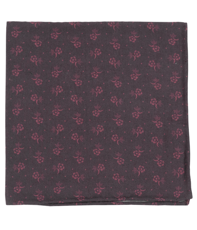 Bluegrass Floral Dark Brown Pocket Square