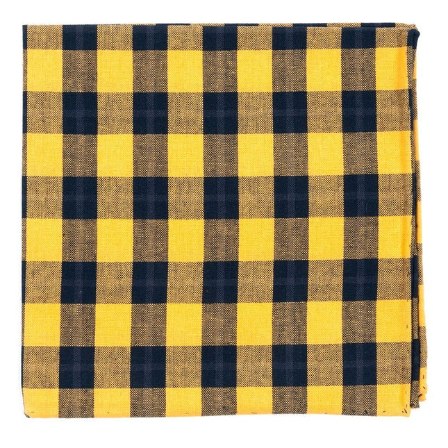 Streetwise Check Yellow Pocket Square