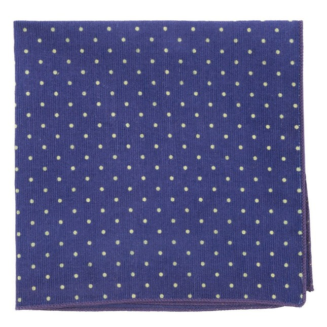 Corduroy Dots Royal Purple Pocket Square