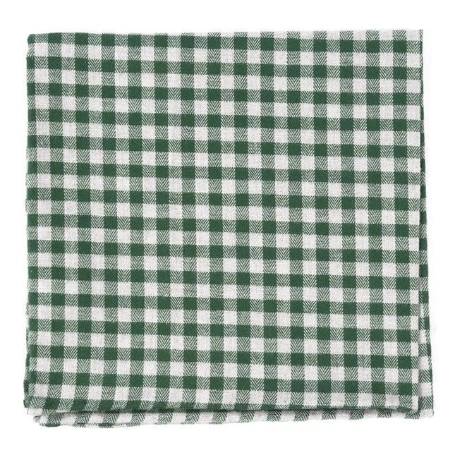 Stein Checks Green Pocket Square