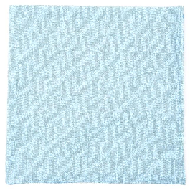 Cotton Tango Light Blue Pocket Square