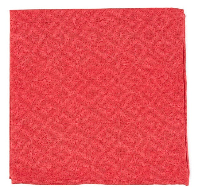 Solid Patrol Persimmon Red Pocket Square