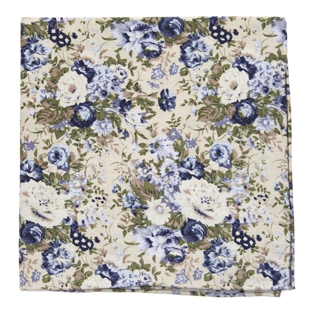 Heirloom Floral Khaki Pocket Square