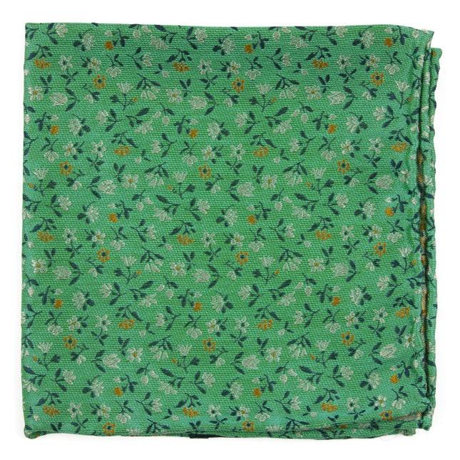 Floral Acres Mint Pocket Square