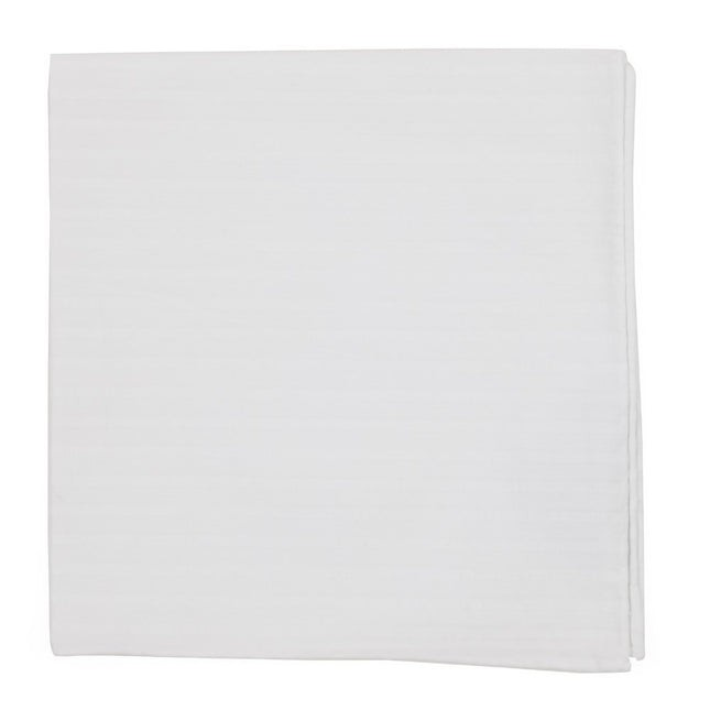 South Bay Stripe White Pocket Square