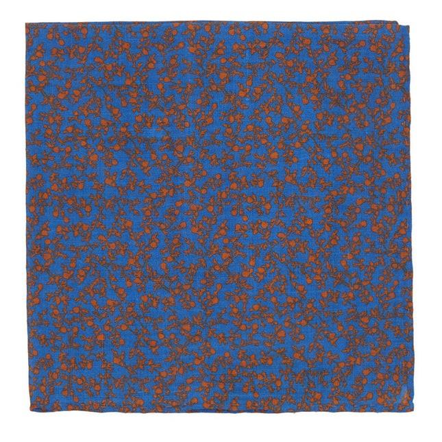 Floral Webb Serene Blue Pocket Square