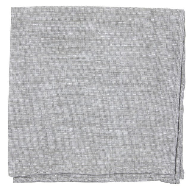South End Solid Grey Pocket Square