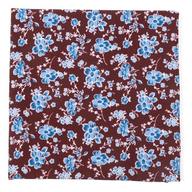 Walnut Street Floral Burgundy Pocket Square